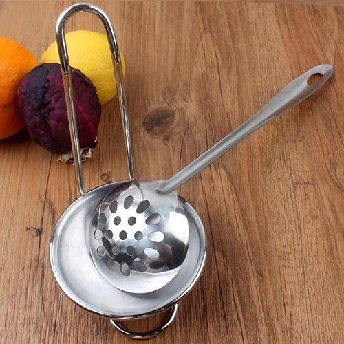 Spoon Rest Soup Ladle Holder Kitchen Storage Organization Cooking Utensils Holder Stainless Steel Kitchen Accessories Decor