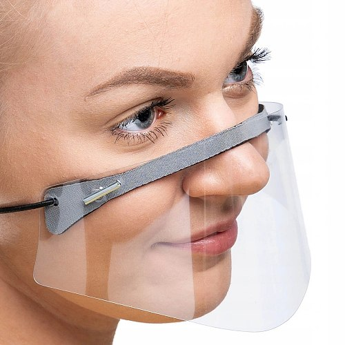 Fast Delivery Mini Shield Washable Reusable Comfortable Mask Transparent PVc Visual Mask Bandage Mascarilla reutilizable 2020