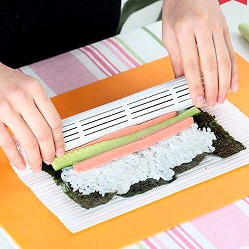 Diy Japanese Sushi Maker Bamboo Sushi Rolling Mat Reusable Sushi Maker Kit Rice Roll Mold Bento Accessories Kitchen Tools