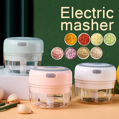 New upgrade smart electric mini food garlic vegetable chopper fruit multi-function processor onion crusher kitchen accessories