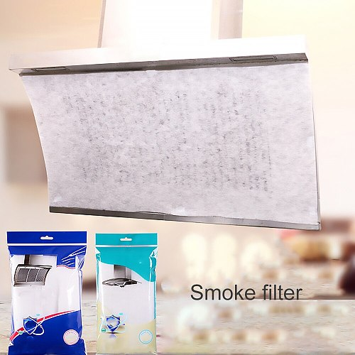 2pcs Kitchen Oil Filter Paper Absorbing Paper Non-Woven Anti Oil Cotton Filters Cooker Hood Extractor Fan Filter Non-Woven