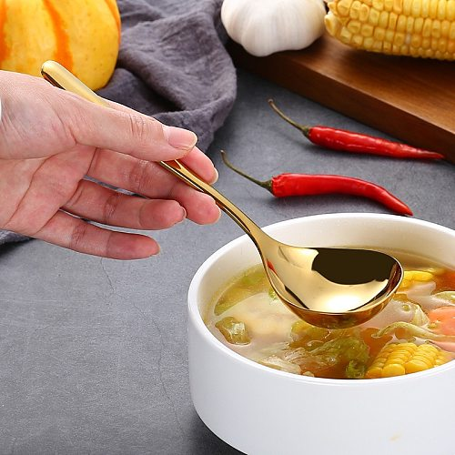304 Stainless Steel Multi-purpose Soup Spoon 20.3CM(Long) Sauce Spoon Creative Deep Bottom Spoons Cute Kitchen Spoon Cucharas