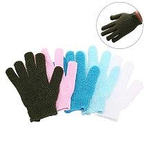 1pc Shower Exfoliating Body Scrub Glove Dead Skin Removal Massage Spa Bath Mitt Random Color