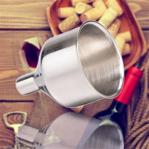 Kitchen Funnel Universal Funnel 2 Inch Stainless Steel For Filling Vials Household Silver Welding Long-mouth Funnel Dropshipping