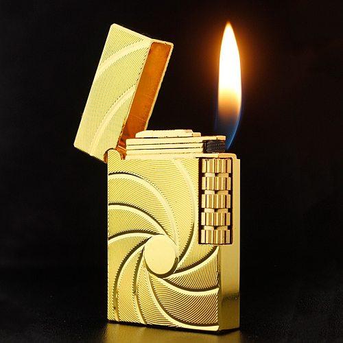 Square Side Slip Wheel Gas Lighter Mini Lighters Firestone Loud Metal Cigar Smoking Lighters Cigarettes Accessories