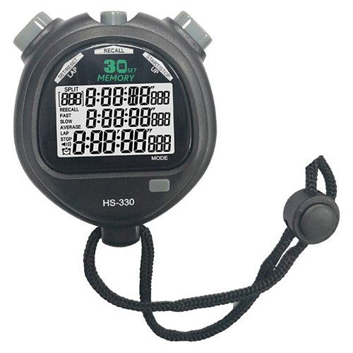Sports Stopwatch ,Digital Large Screen Sport Stopwatch Timer,3 Rows 30 Memory for Coaches Referee Equipment