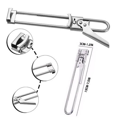 2PC Bar Accessories Stainless Steel Beer/Wine Bottle Opener Adjustable Can Opener Gadget destapador de cerveza Can Opener 2021