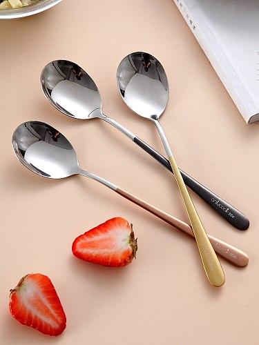 Korean Color Spoon Creative 304 Stainless Steel Spoon Tableware Spoon
