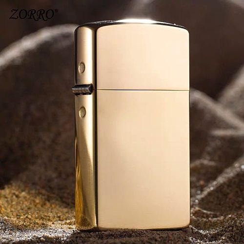 original zorro kerosene lighter. Extended 902 pure copper windbreak brass cigarette gasoline oil lighter