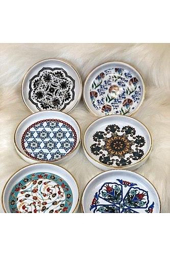 Elite Tea Plate Tile Looking Ceramic Tea Kave plate Tea trivet & Coasters
