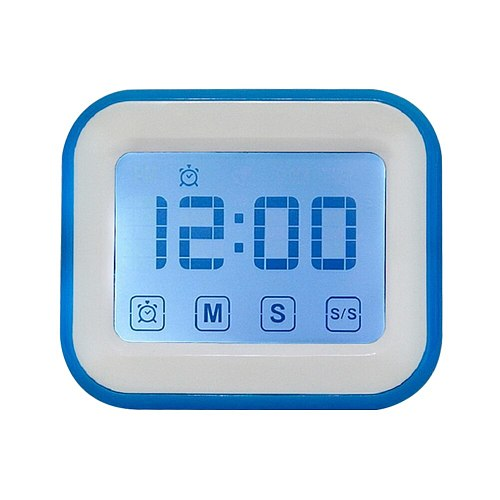 Timer Electronic LCD Digital Screen Kitchen Square Cooking Count Up Countdown Alarm Magnet Clock Sleep Stopwatch Clock