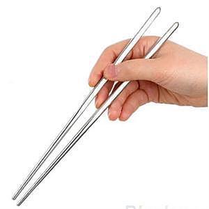 1 Pair Stainless Steel Chopsticks Laser Engraving Patterns Food Sticks Portable Reusable Chopstick Sushi Hashi