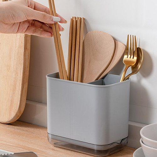 Storage Rack Multifunction Utensil Holder Knife Chopsticks Countertop Cutlery Drying Rack Flatware Drain Tidy Rack Kitchen Tools