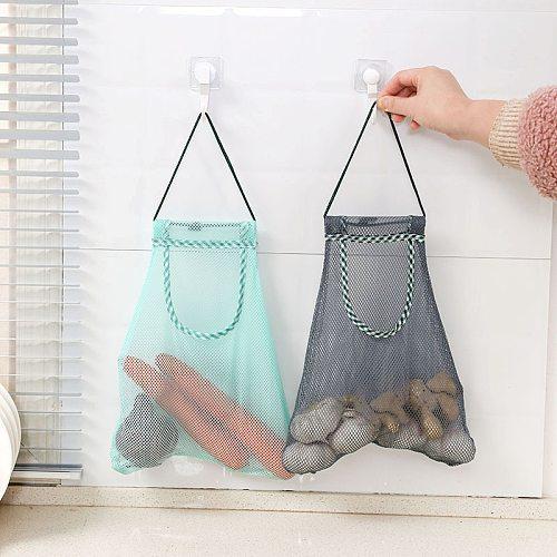 Hanging Storage Mesh Bag Ginger Garlic Onion Storage Bag Ladies Shopping Fruit And Vegetable Storage For Kitchen Accessories