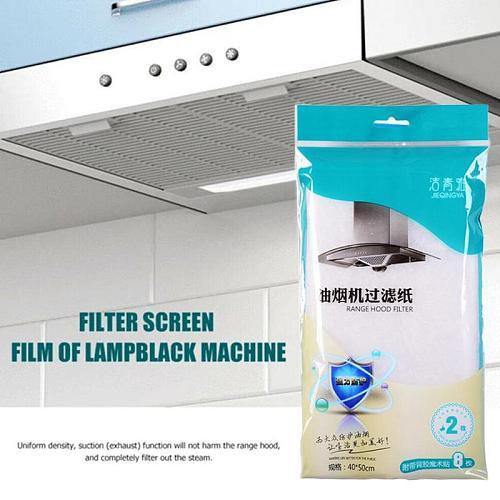1 pack/ 2pcs Kitchen Oil Sticker Range Hood Oil Filter Oil-Absorbing Sticker Paper Oil-Proof Paper Transparent Moisture-pro