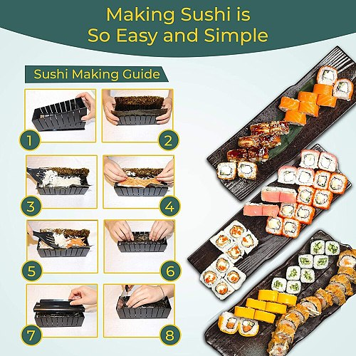 1/3/11/pcs Sushi Maker Portable Japanes Sushi Maker Rice Mold Kitchen Tools DIY Sushi Maker Baking Sushi Maker Kit Sushi Tool