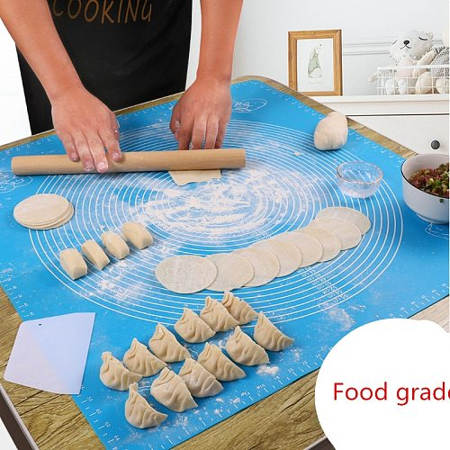 Kitchen Tools Food Grade Silicone Kneading Mat Multi-size Scale Panel Rolling Mat
