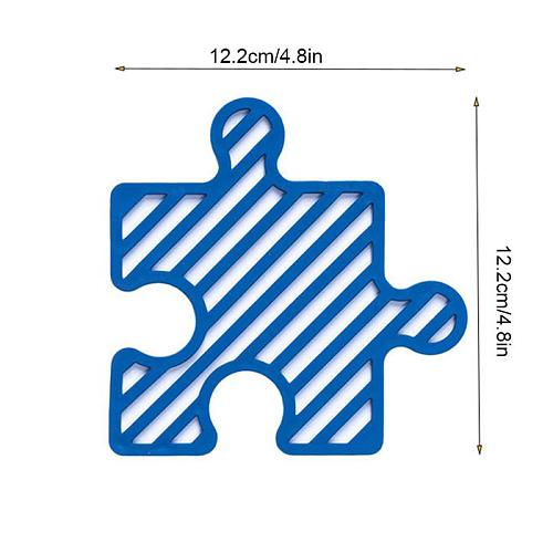1PCS Rubber Trivet Mat Heat Insulating Non-slip Hollow Puzzle Hot Pad Drink Mat Tableware Placemat for Home kitchen justdolife