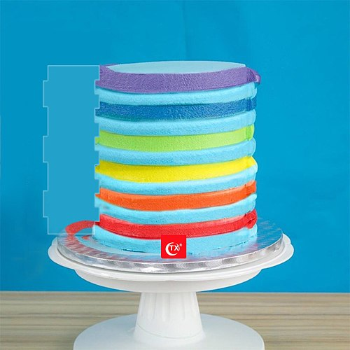 12 Inch Acrylic Cake Scraper Stripes Edge Side Mousse Butter Cream Decorative  Icing Smoother Tool Reusable Large Frosting Comb