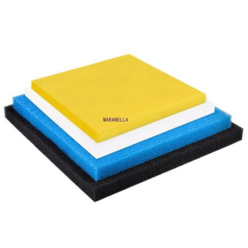 Black, blue, yellow 50cmx50cmx2cm Filtration Foam Aquarium Fish Tank Biochemical Filter Sponge Pad Skimmer Sponge Supply Tank