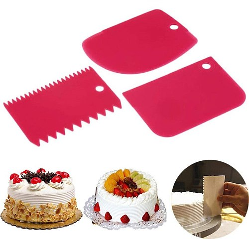 1pcs Food Grade Plastic Pastry Dough Cutter Trapezoid Shape Baking Spatulas Pastry Cutter Slicer Cake Bread Pasty Tools 25
