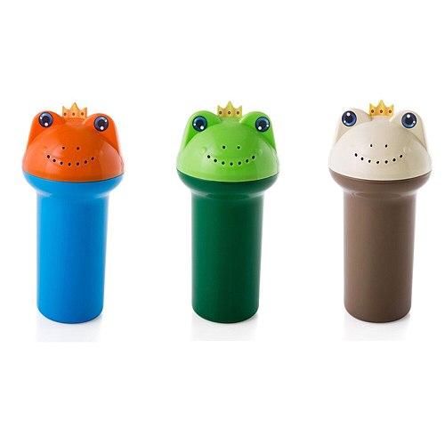 2pcs Cartoon Frog Plastic Water Scoop for Baby Bath Washing Hair Baby Shower Cap Bath Shampoo Toys Baby Bath Stuff Accessories