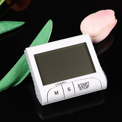 Large Screen Digital Kitchen Cooking Timer Count Down Clock Loud Alarm with Large LCD Display Screen with Battery