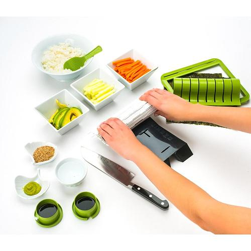 Sushi Making Kit Plastic Sushi Maker Tool Easy DIY Sushi Rolls Home Kitchen Sushi Tool For Beginners Detachable Kitchen Tools