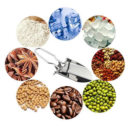 2Pcs/Set Stainless Steel Ice Cream Scoop Kitchen Flour Coffee Pet Feeder Spade kitchen Accessories Tools For Restaurant