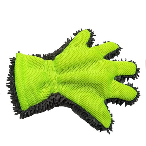 1Pcs Ultra-Luxury Microfiber Car Wash Gloves Car Cleaning Tool Home Use Multi-function Cleaning Brush Detailing Washing Gloves