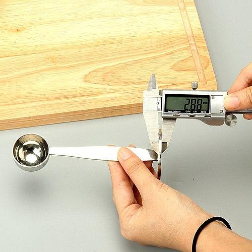 Hot Espresso Stand Coffee Measure Tamper Spoon Stainless Steel Coffee & Tea Tools Tampers Coffeeware