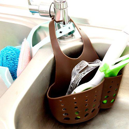 Kitchen Gadgets Portable Basket Home Kitchen Hanging Drain Basket Bag Bath Storage Tools Sink Holder Kitchen Accessory Utensils