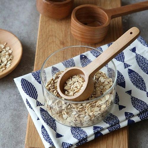 27.5*6.5cm Japanese wood Miso soup spoon Household wooden water scoop long handle wooden cooking spoon stirring spoon