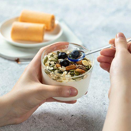 Heat Resistant Glass Spoon Durable Coffee Tea  stirring rod Ins High borosilicate Desert Spoon