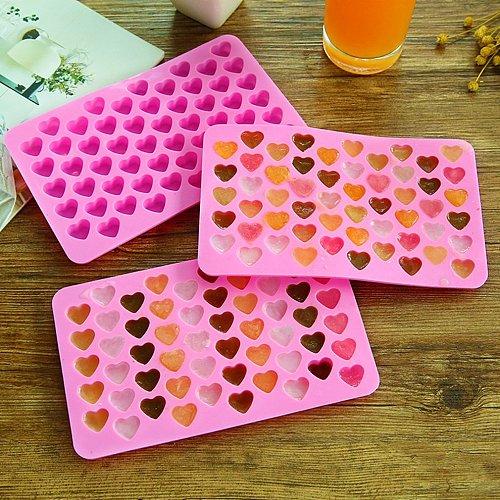 55 Lattice Heart Shape Ice Cube Tray Cute DIY Mini Silicone Ice Cube Maker Chocolate Baking Candy Soap Mold Kitchen Baking Tool