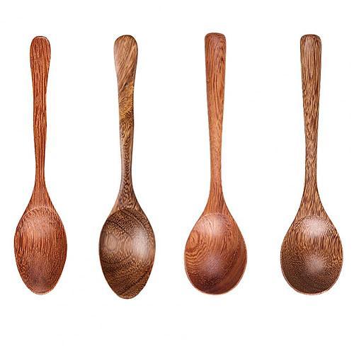 2021 Rice Spoon Durable Multipurpose Eco-friendly Durable Wood Portable Kitchen Soup Spoon Ice Cream Desserts Spoon Wholesale