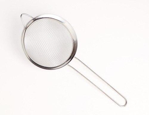 Wide Side Twill Oil Grid Kitchen Strainer Spoon Steel Mesh Slip Flour Medicine Fishing Spoon