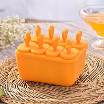6/8 Holes Food Grade Plastic Ice Cream Tubs Eco-Friendly Popsicle Mold Household Non-toxic Child Ice Cream Tools Kitchen Gadget