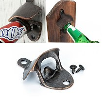 Hot Sale Bottle Opener Wall Mounted Wine Beer Opener Tools Bar Drinking Accessories Home Decor Kitchen Party Supplies