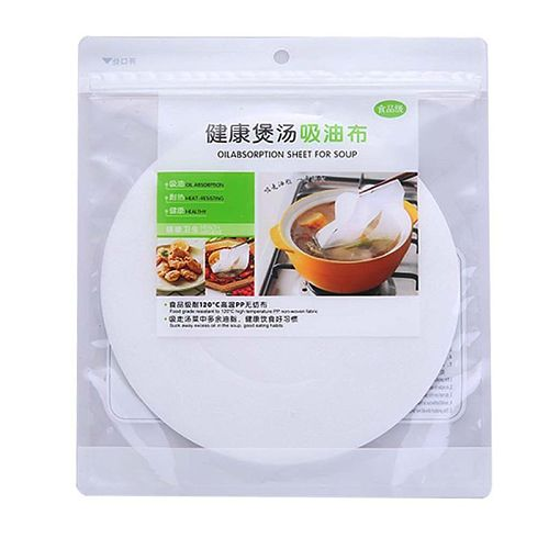 30pcs Round Soup Oil Absorbing Paper Absorption Membrane Pads Kitchen Food Cook