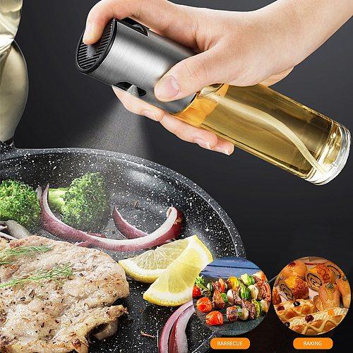 Kitchen Baking Oil Cook Glass Oil Spray Empty Bottle Vinegar Bottle Oil Dispenser Cooking Tool Set Salad BBQ Cooking Oil Sprayer