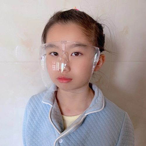 New Fashion One-piece Oversized Lens Glasses Transparent Mask Face Shield Glasses For Kids Specialty Tools Hot Sale Wholesale