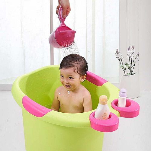 Baby Shampoo Cup Showers Shampoo Scoop Wash Head Plastic Water Spoon Children Bath Toy Summer Water Play Kids Shower Products