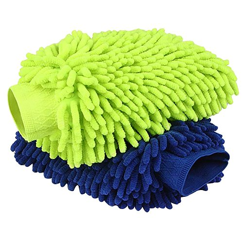 2pcs Microfiber Car Window Washing Home Cleaning Cloth Duster Towels Gloves Polyte Microfiber Chenille Car Wash Care Wash #zer