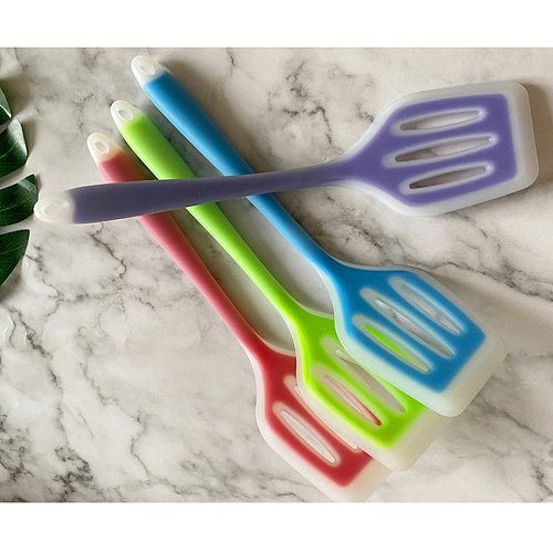 Silicone Kitchen Ware Non-stick Set Cooking Utensils Tools Egg Fish Frying Pan Scoop Fried Shovel Spatula Cooking Utensils