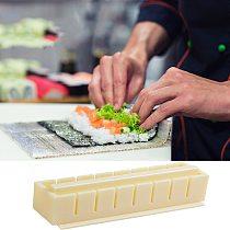 10Pcs DIY Sushi Maker Equipment Kit Japanese Rice Ball Cake Roll Mold Plastic Sushi Making Mould Kitchen Cooking Tools