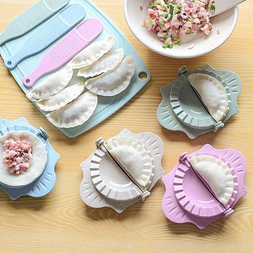 2020 New DIY Dumplings Tool Top Good Quality Dumpling Jiaozi Maker Device Easy Dumpling Mold Clips Dumplings Kitchen Accessories