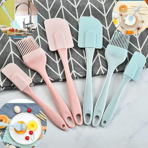 1/3Pcs/Set Kitchen Utensils Cooking Supplies Multi Purpose Blue/Pink Cake Spatula Baking Tools Silicone/PP Non-stick DIY Baking
