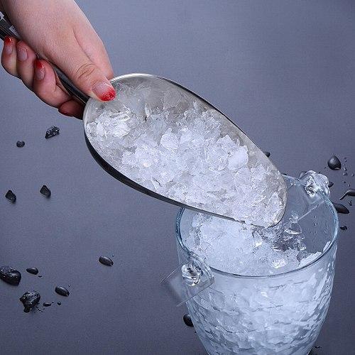 1080ML Ice Scoop Aluminum Alloy Shovel for Ice Grain Coffee Beans Scoops Bar Ice Scraper Kitchen Storage Tool coffee spoon