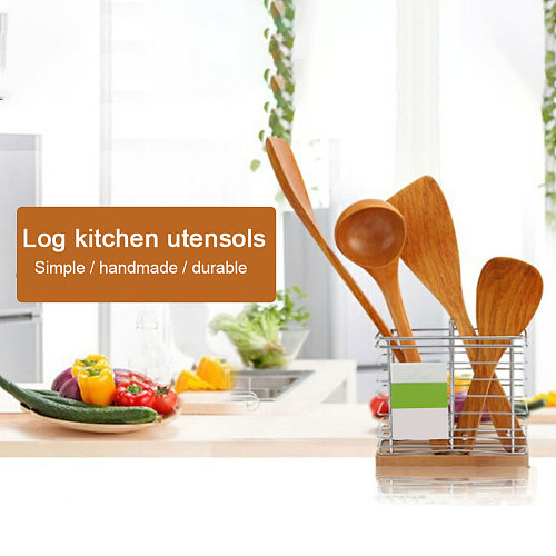 4 PCS Set Wooden Spatula Kitchen Nonstick Dedicated Wooden Kitchenware Heat Resistant Wooden Cooking Shovel Spoon